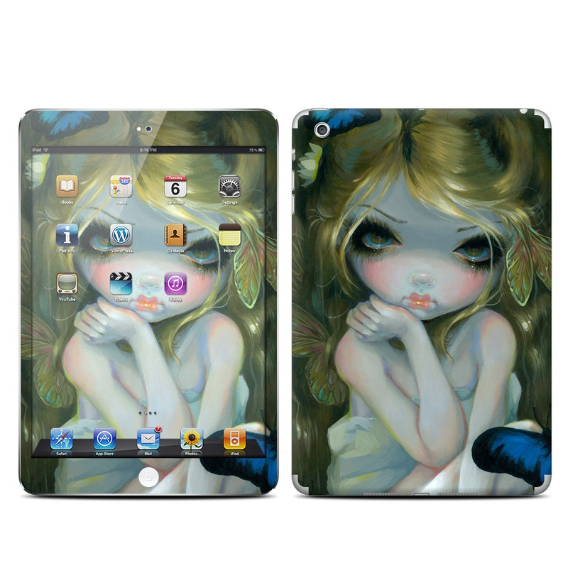 iPad mini 1 Skin design of Art, Cg artwork, Illustration, Painting, Cheek, Eye, Acrylic paint, Fictional character, Visual arts, Iris with yellow, blue, pink, white, green colors