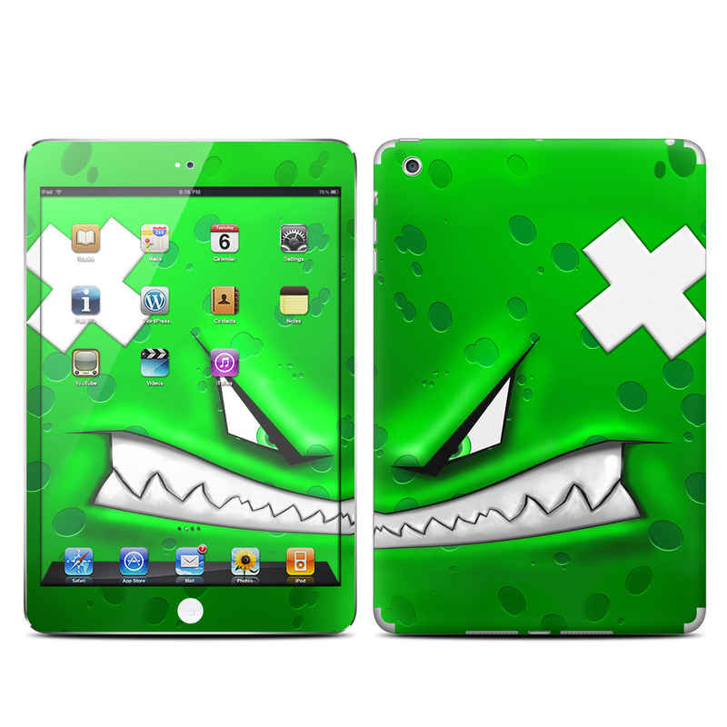 iPad mini 1 Skin design of Green, Font, Animation, Logo, Graphics, Games with green, white colors