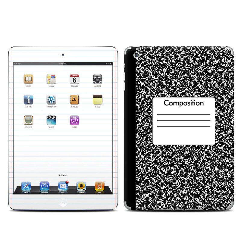 iPad mini 1 Skin design of Text, Font, Line, Pattern, Black-and-white, Illustration with black, gray, white colors