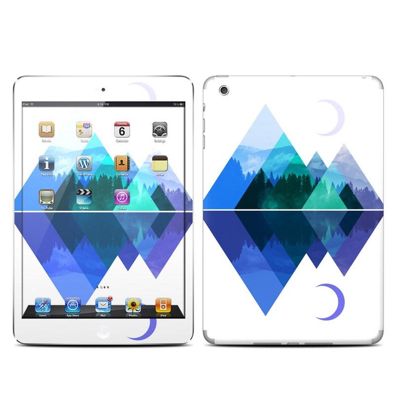 iPad mini 1 Skin design of Blue, Cobalt blue, Azure, Pattern, Logo, Design, Electric blue, Graphics, Illustration, Triangle with white, blue, purple, green colors