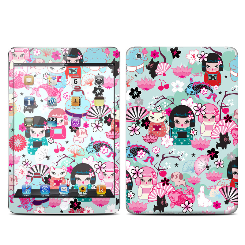 iPad mini 1 Skin design of Pink, Illustration, Pattern, Design, Clip art, Plant, Graphics, Magenta, Graphic design, Flower with gray, black, pink, red, purple, white colors