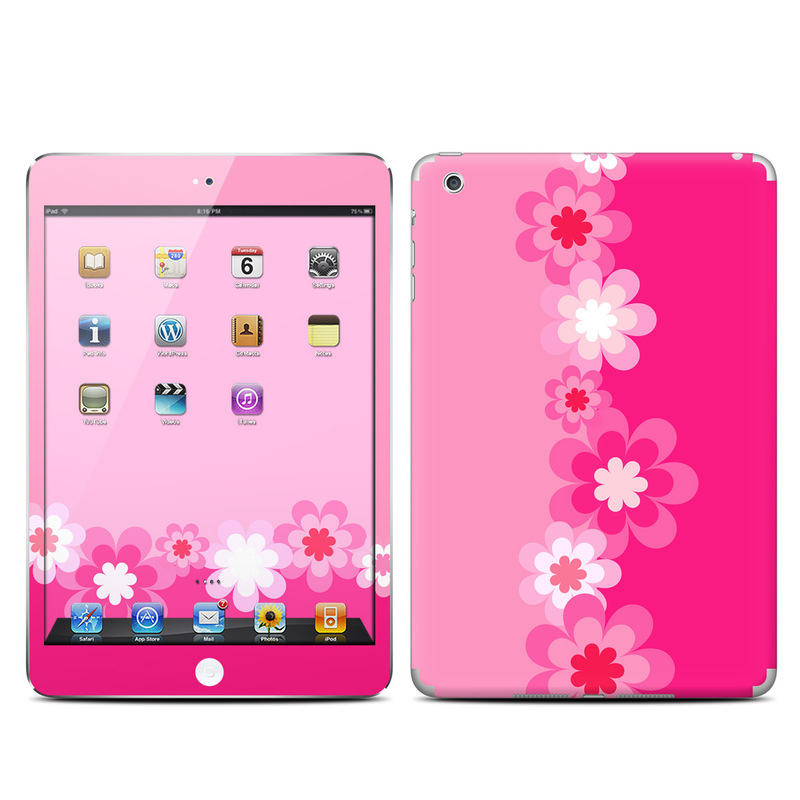 Retro Pink Flowers iPad mini 1 Skin