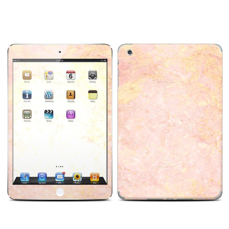 iPad mini 1 Skin design of Pink, Peach, Wallpaper, Pattern with pink, yellow, orange colors