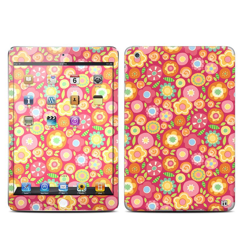 Flowers Squished iPad mini Skin