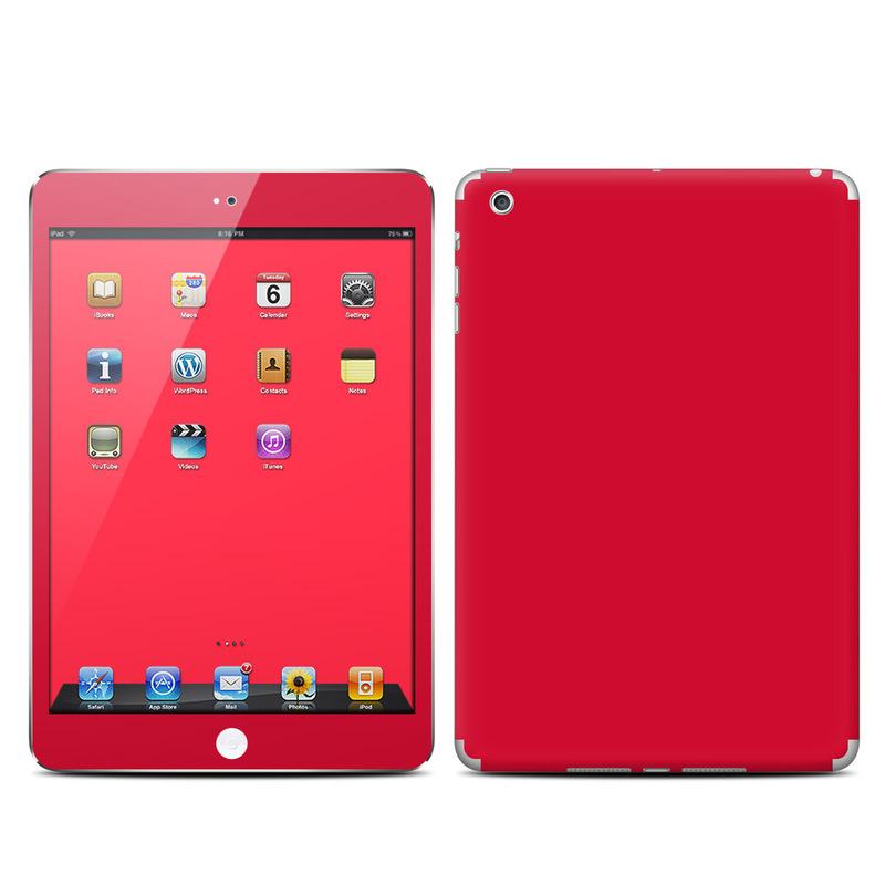 iPad mini 1 Skin design of Red, Pink, Maroon, Purple, Orange, Violet, Magenta, Material property, Font, Peach with red colors