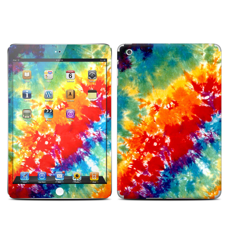 iPad mini 1 Skin design of Orange, Watercolor paint, Sky, Dye, Acrylic paint, Colorfulness, Geological phenomenon, Art, Painting, Organism with red, orange, blue, green, yellow, purple colors