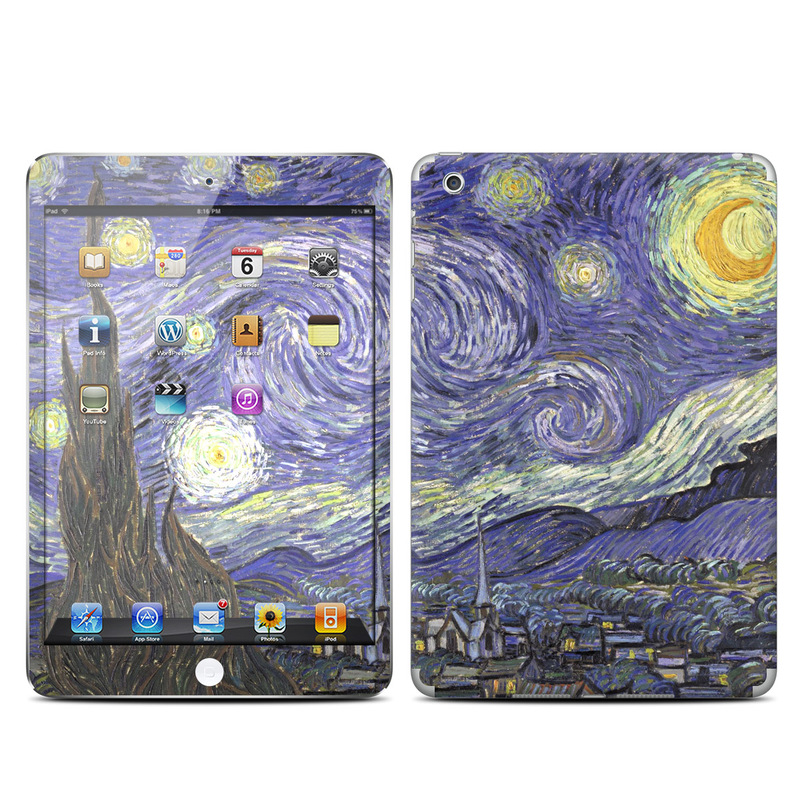 iPad mini 1 Skin design of Painting, Purple, Art, Tree, Illustration, Organism, Watercolor paint, Space, Modern art, Plant with gray, black, blue, green colors