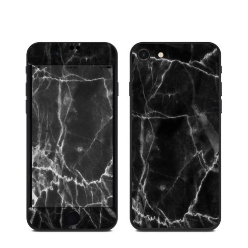 Black Marble iPhone SE Skin