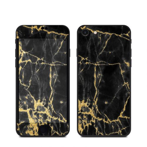 Black Gold Marble iPhone SE Skin