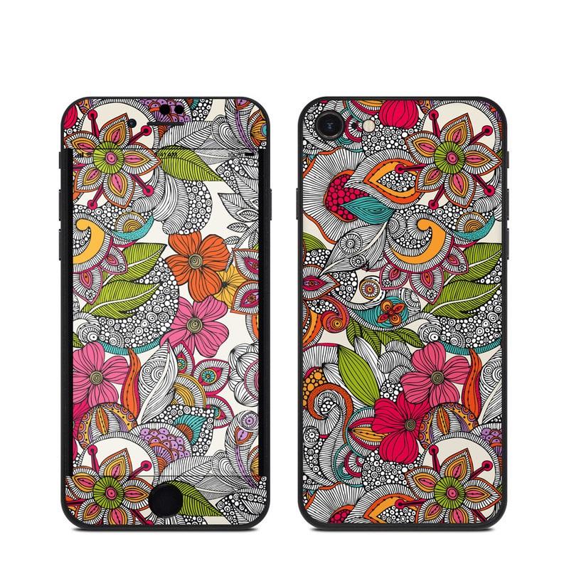 iPhone SE Skin design of Pattern, Drawing, Visual arts, Art, Design, Doodle, Floral design, Motif, Illustration, Textile with gray, red, black, green, purple, blue colors