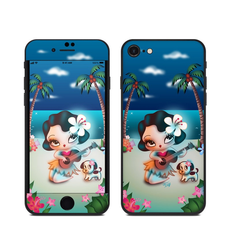 iPhone SE Skin design of Cartoon, Animated cartoon, Illustration, Animation, Fictional character, Plant, Art, Clip art with blue, white, brown, pink, green, yellow, red colors