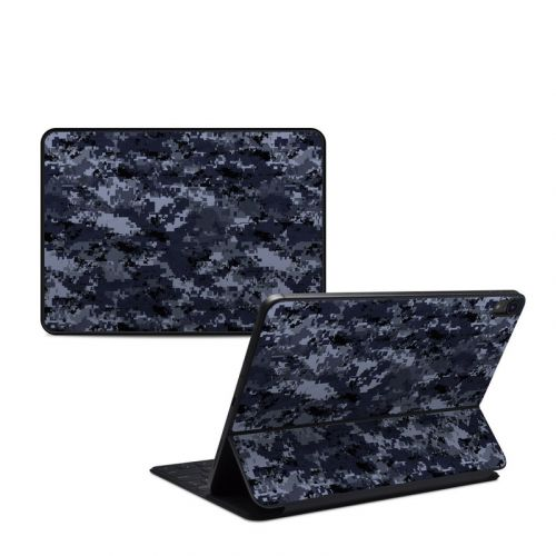 Digital Navy Camo iPad Pro 11-inch Smart Keyboard Folio Skin
