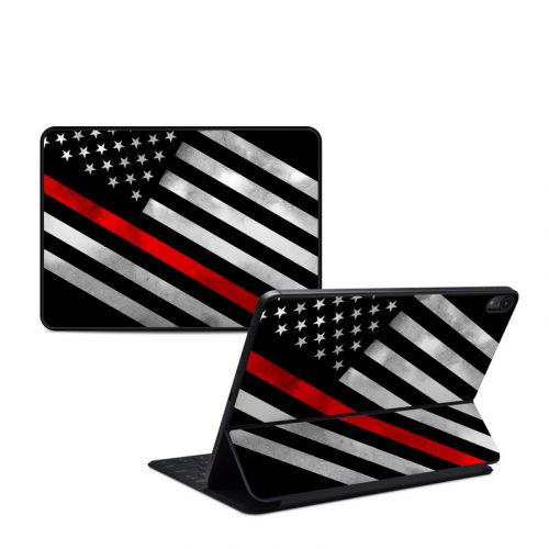 Thin Red Line Hero iPad Pro 11-inch Smart Keyboard Folio Skin