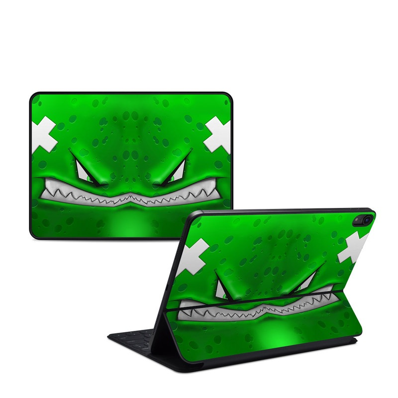 iPad Pro 11-inch 1st Gen Smart Keyboard Folio Skin design of Green, Font, Animation, Logo, Graphics, Games with green, white colors