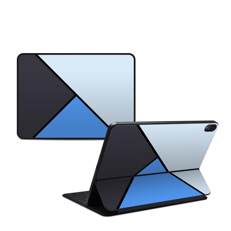 iPad Pro 11-inch 1st Gen Smart Keyboard Folio Skin design of Blue, Line, Cobalt blue, Triangle, Azure, Electric blue, Parallel, Symmetry, Font with blue, gray, black colors