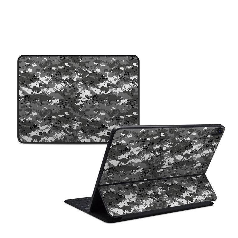 iPad Pro 11-inch Smart Keyboard Folio Skin design of Military camouflage, Pattern, Camouflage, Design, Uniform, Metal, Black-and-white with black, gray colors