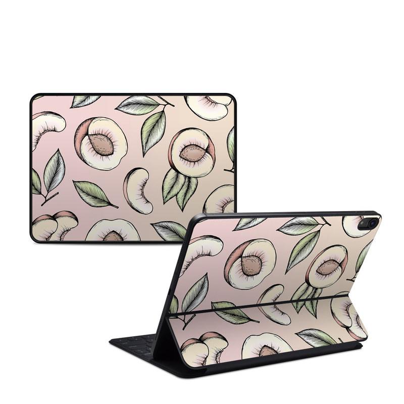 iPad Pro 11-inch 1st Gen Smart Keyboard Folio Skin design of Pattern, Leaf, Botany, Organism, Design, Plant, Illustration, Clip art with pink, green, yellow, orange colors