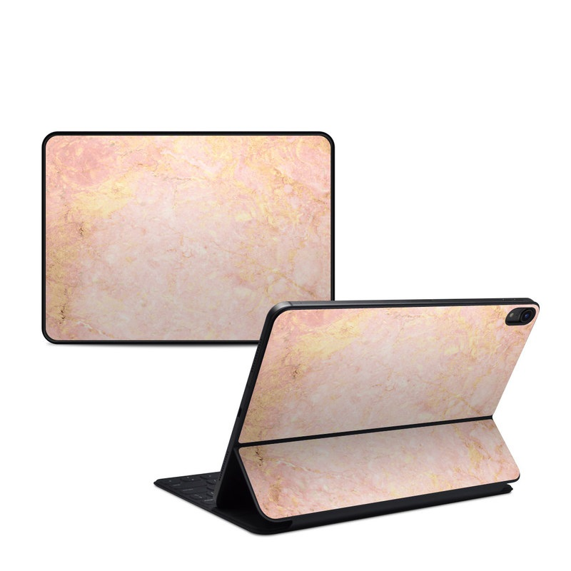 iPad Pro 11-inch Smart Keyboard Folio Skin design of Pink, Peach, Wallpaper, Pattern with pink, yellow, orange colors