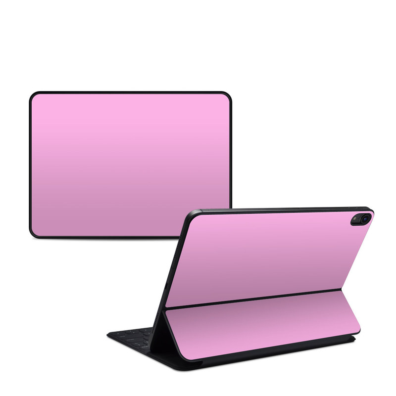 iPad Pro 11-inch 1st Gen Smart Keyboard Folio Skin design of Pink, Violet, Purple, Red, Magenta, Lilac, Sky, Material property, Peach with pink colors