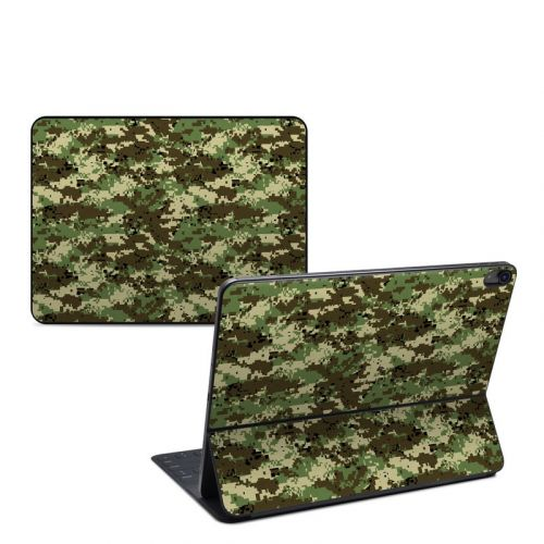 Digital Woodland Camo iPad Pro 12.9-inch Smart Keyboard Folio Skin