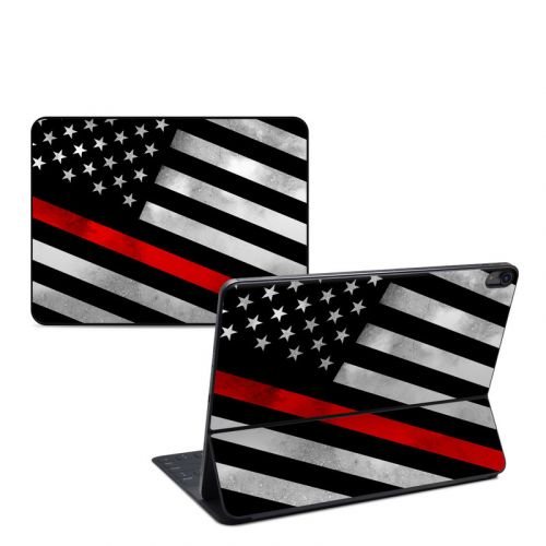 Thin Red Line Hero iPad Pro 12.9-inch Smart Keyboard Folio Skin