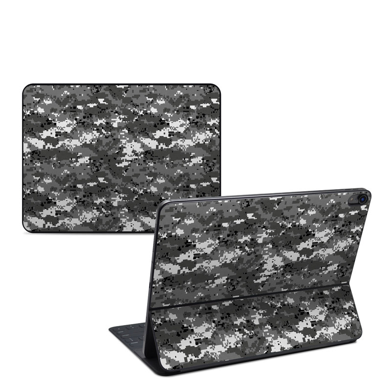 iPad Pro 12.9-inch Smart Keyboard Folio Skin design of Military camouflage, Pattern, Camouflage, Design, Uniform, Metal, Black-and-white with black, gray colors