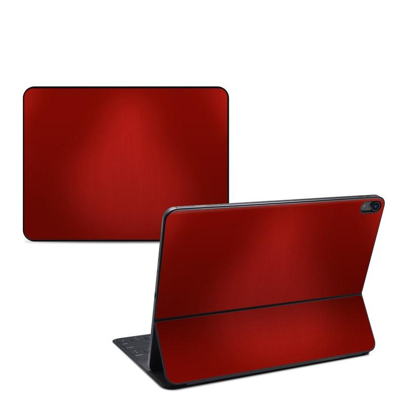 iPad Pro 12.9-inch 3rd Gen Smart Keyboard Folio Skin design of Red, Maroon, Orange, Brown, Peach, Pattern, Magenta with red colors