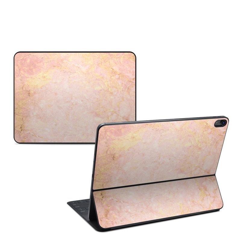 iPad Pro 12.9-inch Smart Keyboard Folio Skin design of Pink, Peach, Wallpaper, Pattern with pink, yellow, orange colors