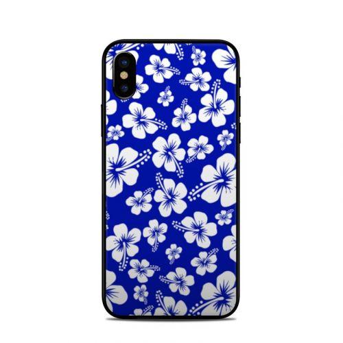 Aloha Blue iPhone X Skin