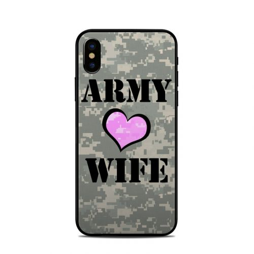 Army Wife iPhone X Skin