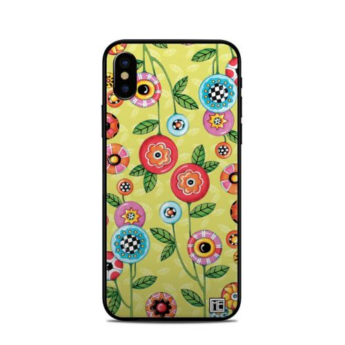Button Flowers iPhone X Skin