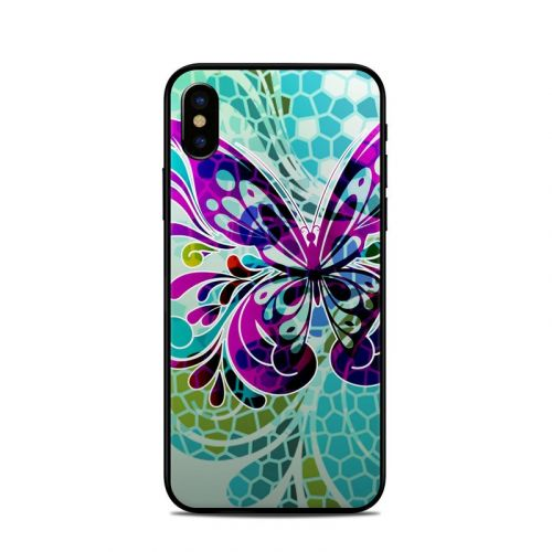 Butterfly Glass iPhone X Skin