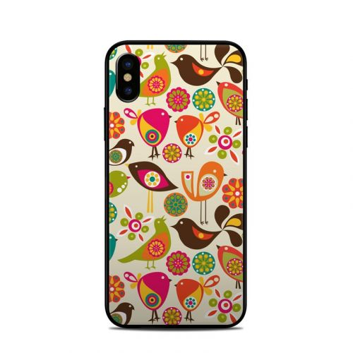 Bird Flowers iPhone XS Skin