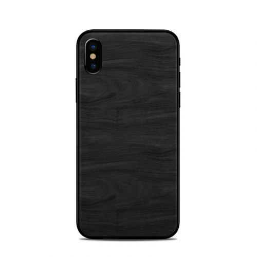 Black Woodgrain iPhone X Skin