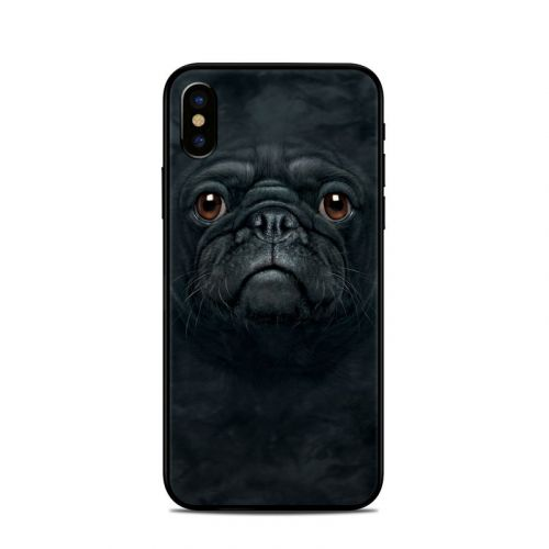 Black Pug iPhone XS Skin