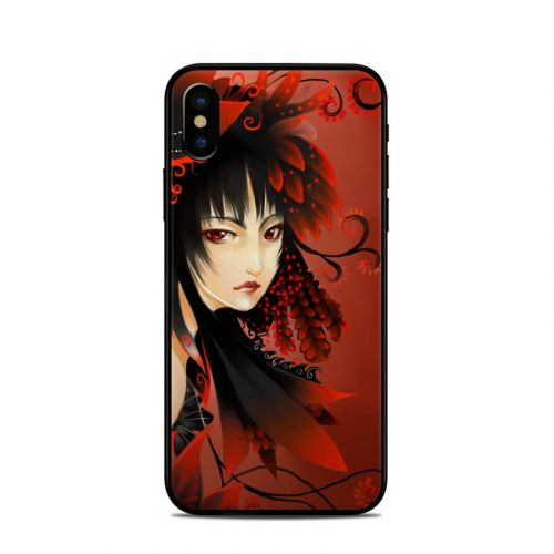 Black Flower iPhone XS Skin