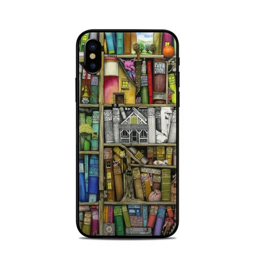 Bookshelf iPhone X Skin