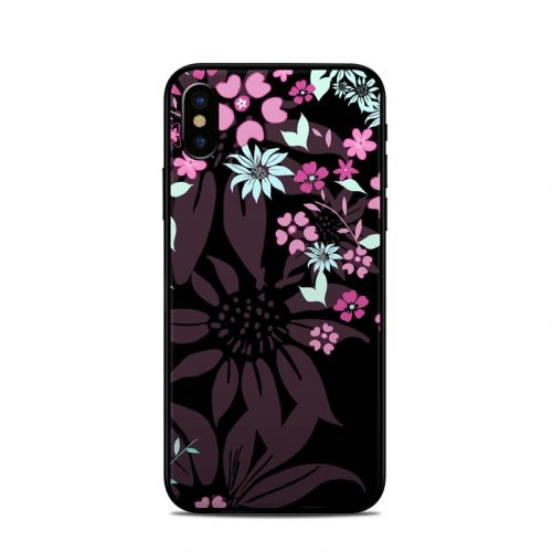 Dark Flowers iPhone X Skin