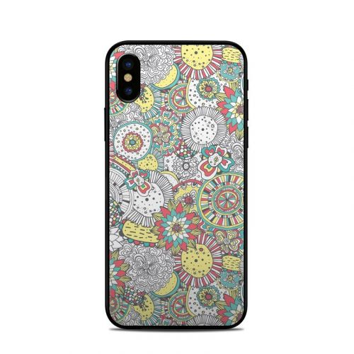 Faded Floral iPhone X Skin