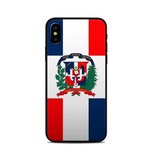 Dominican Republic Flag iPhone XS Skin