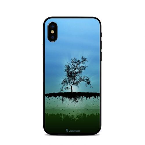 Flying Tree Blue iPhone X Skin