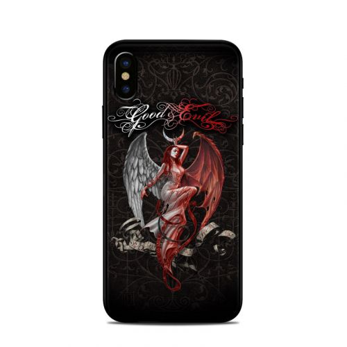 Good and Evil iPhone X Skin