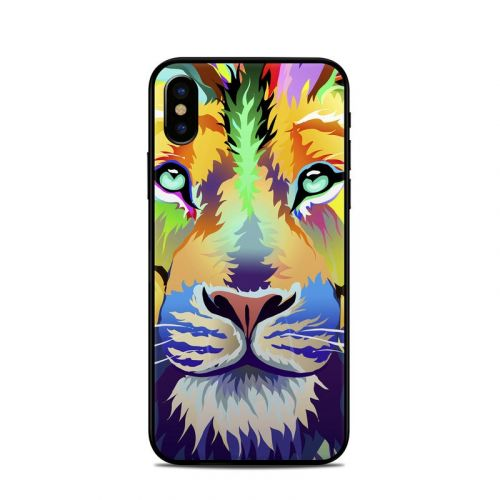 King of Technicolor iPhone X Skin