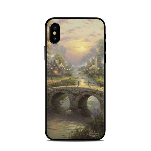 Sunset On Lamplight Lane iPhone XS Skin