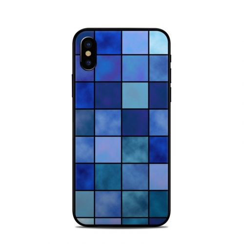 Blue Mosaic iPhone X Skin