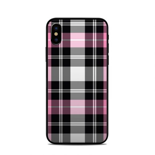 Pink Plaid iPhone XS Skin