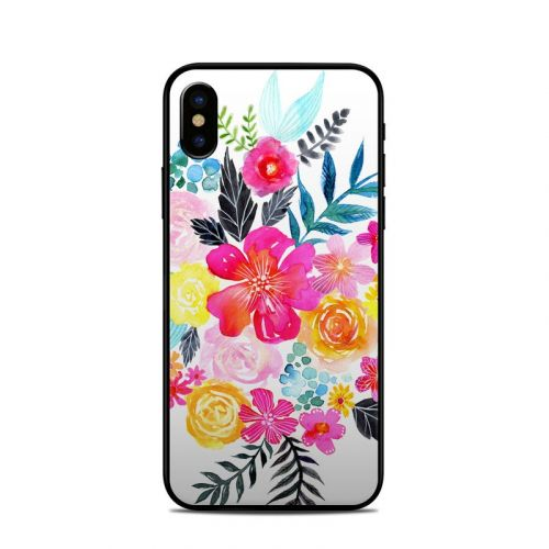 Pink Bouquet iPhone X Skin