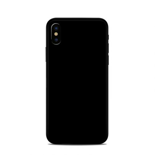 Solid State Black iPhone XS Skin