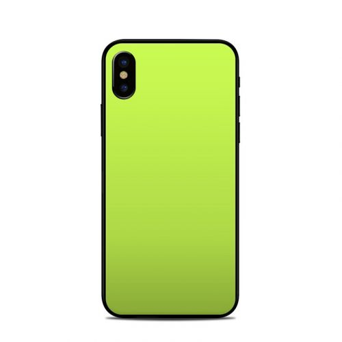 Solid State Lime iPhone X Skin