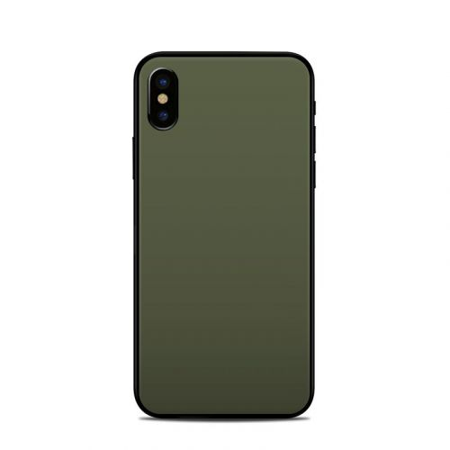 Solid State Olive Drab iPhone XS Skin